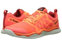 Reebok Zprint Train Atomic Red Electric Peach Motor Red Opal Black Men's Cross Training Shoes Orange