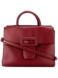 Maison Martin Margiela Buckle Detail Tote Red