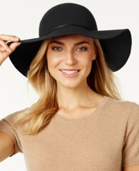 Nine West Metallic Tube Floppy Hat Black