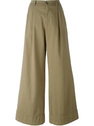 P.A.R.O.S.H. Wide Legged Draped Trousers Nude And Neutrals