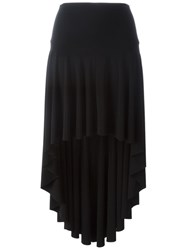 Norma Kamali Long Tail Pleated Skirt Black