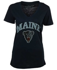 Royce Apparel Inc Women's Maine Black Bears Vintage Arch T Shirt Navy