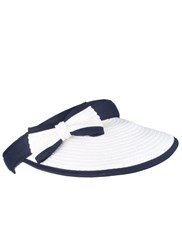 Dents Ladies Paperstraw Visor With Bow Detail Multi Coloured