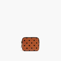 Madewell The Pouch Wallet In Dot English Saddle