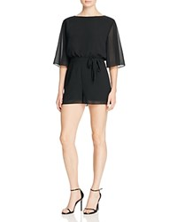Bb Dakota Levette Chiffon Romper Black