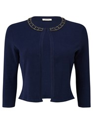 Precis Petite Ada Embellished Cropped Cover Up Blue