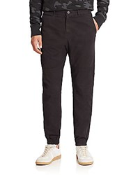 Madison Supply Brushed Woven Jogger Pants Black