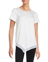 Karl Lagerfeld Studded Knit Top White