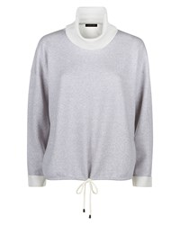 Jaeger Double Faced Wool Sweater Grey