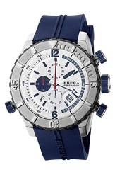Brera 'Sottomarino' Chronograph Diver Watch 48Mm Blue Silver