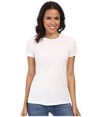 Mod O Doc Supreme Jersey Fitted S S Crew White Women's T Shirt