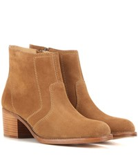 A.P.C. Camarguaises Suede Ankle Boots Brown