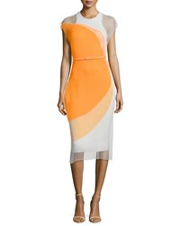 Stella Mccartney Sleeveless Colorblock Dress Orange