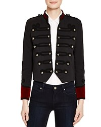 The Kooples Color Blocked Military Jacket Navy Red