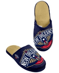 Forever Collectibles Men's New Orleans Pelicans Big Logo Slippers Navy Red