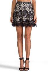 Bb Dakota Theadora Scallop Lace Skater Skirt Black