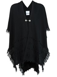 Barrie Frayed Cardigan Black