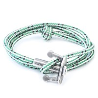 Anchor And Crew Union Rope And Silver Bracelet Green Dash