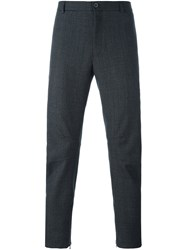 Lanvin Houndstooth Biker Trousers Grey