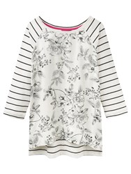 Joules Polly Print Jersey Top Cream Winterberry