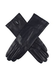 Dents Ladies Leather Glove With Silk Lining Navy