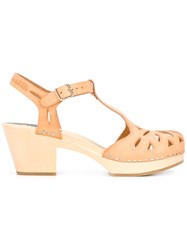 Swedish Hasbeens 'Lacy' Sandals Nude Neutrals