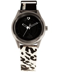 Harajuku Lovers Unisex Black And White Designed By Gwen Stefani Printed Strap Watch 40Mm Hl2620