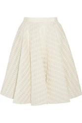 Giambattista Valli Embroidered Tulle Skirt White