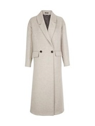 Paul Smith Black Textured Wool Mohair Oversize Coat Beige