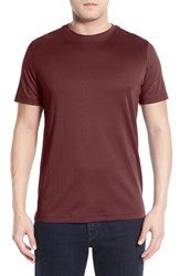 Robert Barakett Men's 'Georgia' Crewneck T Shirt Deep Crimson