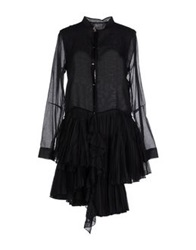 Roberta Furlanetto Short Dresses Black