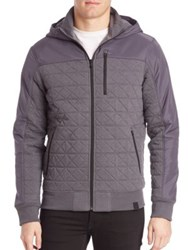 Victorinox Diamond Quilted Long Sleeve Jacket Grey