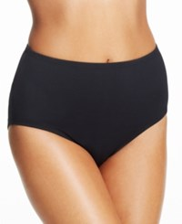Anne Cole High Waist Swim Brief Bottom Women's Swimsuit Black