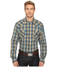 Cinch Modern Fit Western Plain Blue Men's Clothing