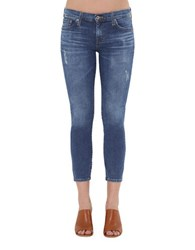 Big Star Alex Distressed Skinny Ankle Jeans Blue