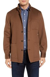 David Donahue Men's Loro Piana Shirt Jacket Vicuna