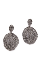Aurelie Bidermann Lace Earrings Black Silver