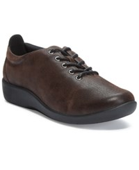 Clarks Collection Women's Cloud Steppers Sillian Tino Sneakers Women's Shoes Brown Nubuck