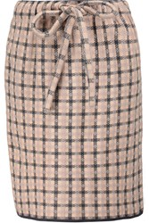 M Missoni Plaid Stretch Knit Mini Skirt Anthracite