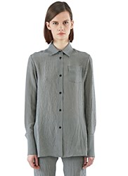 Yang Li Gingham Checked Soft Dress Shirt Grey