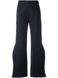 Jacquemus Curved Leg Trousers Blue