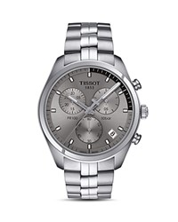 Tissot Pr 100 Stainless Steel Chronograph 41Mm Gray Silver