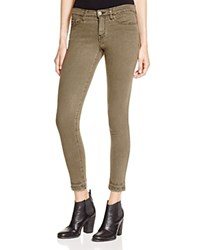 Flying Monkey Released Hem Skinny Jeans In Army Green