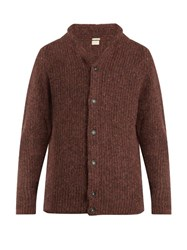 Massimo Alba Shawl Collar Alpaca Blend Cardigan Multi