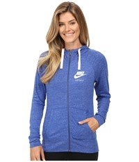 Nike Gym Vintage Full Zip Hoodie Game Royal Sail Women's Sweatshirt Blue