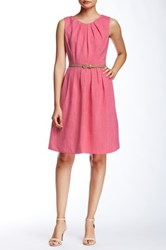 Ellen Tracy Sleeveless Pleated Sundress Petite Pink