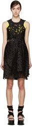 Sacai Black And Yellow Lily Lace Underlay Dress