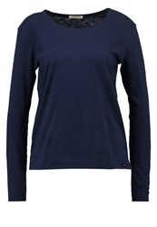 Long Sleeved Top Navy Dark Blue