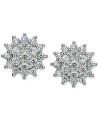 Giani Bernini Cubic Zirconia Cluster Stud Earrings In Sterling Silver Only At Macy's