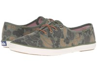 Keds Champion Camo Ripstop Olive Women's Lace Up Casual Shoes